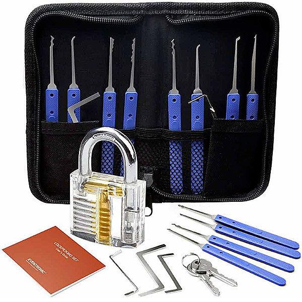 Set Fabbro Eventronic Kit da 17 Grimaldelli Lock Picking